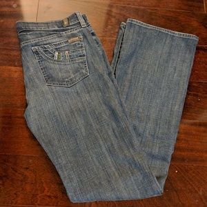 7 for All Mankind Bootcut Jeans with Pocket Bling